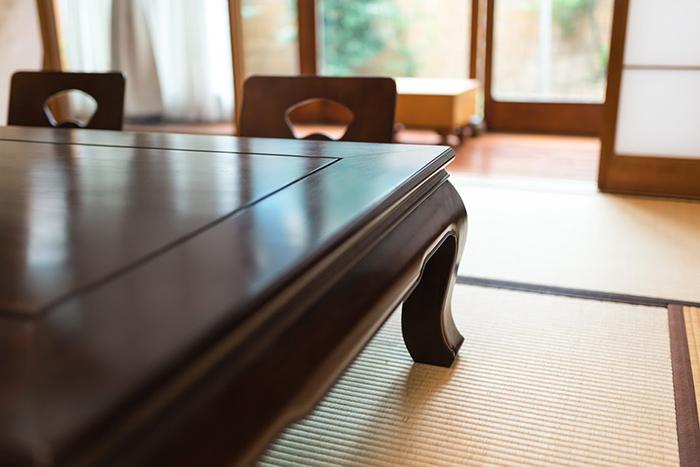 和室の座敷机